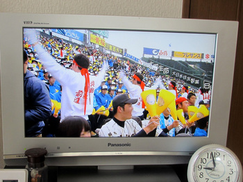 2013年3月23日*春の甲子園いわき海星高校の応援には避難先にもなってる埼玉の高校生のブラバンも!感謝!